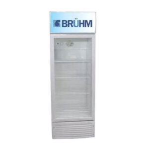 Grey Beverage Cooler, Bruhm BFV-270SD,7.8Cu.Ft ,220 Litres Fridge showcase chillers