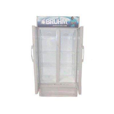 Bruhm Fridge Beverage Cooler ,BFV-500DD, 20Cu.Ft ,550 Litres Grey showcase chillers