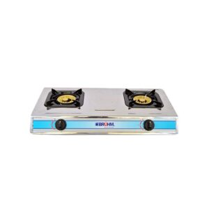 Cooker Bruhm BGC MT2S 2 BURNER GAS STOVE STAINLESS STEEL Silver