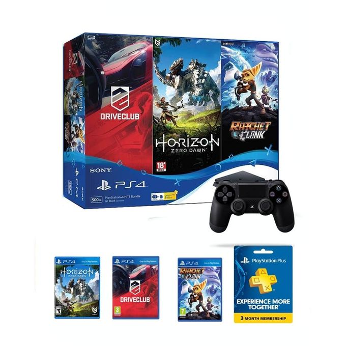 sony ps4 slim 500gb hits bundle console with 3 months psn plus 3