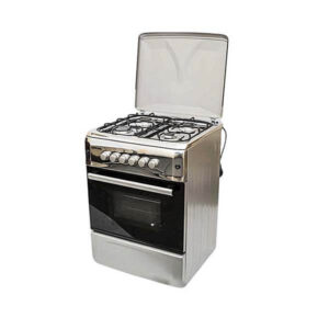 Bruhm BGC 6640NX - 60cm x 60cm - 4 Gas Free Standing Silver Cooker