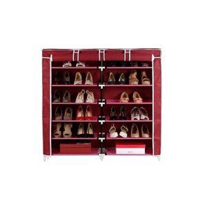 shoe-rack-wine red