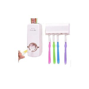 Touch Me Toothpaste Dispenser - White