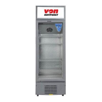 Von Hotpoint HPBC198W Vertical Cooler, 188L - White+Grey