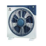 "Mika Box Fan, 12"", Square, Light & Dark Grey MFB1210/DG(MBF12C11)"