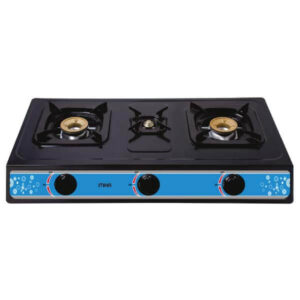 Mika Gas Stove, Table Top, Nonstick, 3 Burner MGS1300(MNST3500)