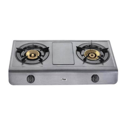 Mika Gas Stove, Table Top, Teflon, 2 Burner MGS1501