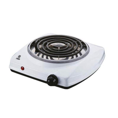 Mika Hot Plate, Single, 1500W, White MHP10WH