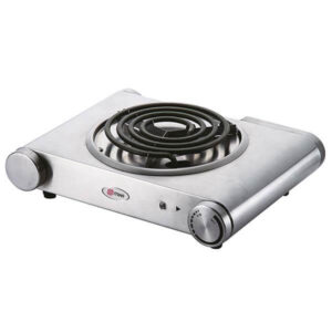 Mika Hot Plate, Single, 1500W, Stainless steel MHP12SS