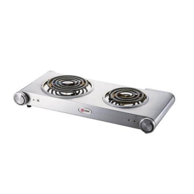 Mika Hot Plate, Double, 1500W & 750W, Stainless steel MHP22SS