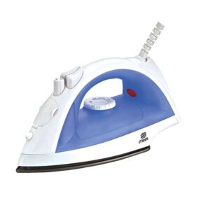 Mika Steam Iron, Non-Stick Soleplate, White & Blue MSTI405
