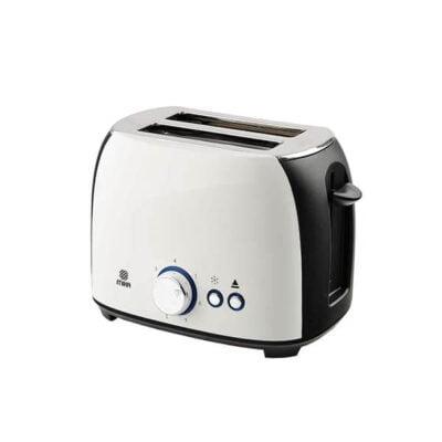 Mika Toaster, 2 Slice, 800w, White & Black MTS102