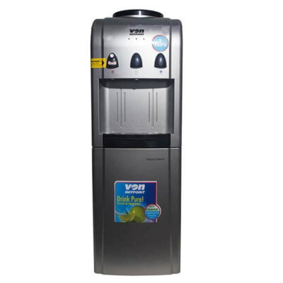 Von HWDV2220S Water Dispenser, Compressor Cooling, With Fridge, Free Standing - Silver