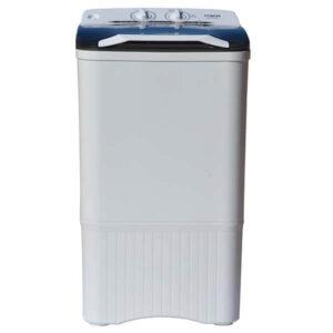Mika Washing Machine, Semi-Automatic Top Load, Single Tub, 6Kg, White & Grey
