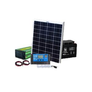 Solar panel 100w + 80AH Battery + 250w inverter + 10 Amp solar controller + 4 bulbs