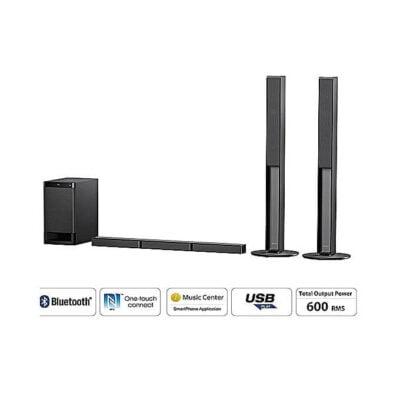 Sony 600W Sound Bar,5.1ch real surround sound,Dolby Digital Tall boy ,Bluetooth HT-RT40
