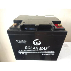 Solar Max 70AH Solar Battery- Black