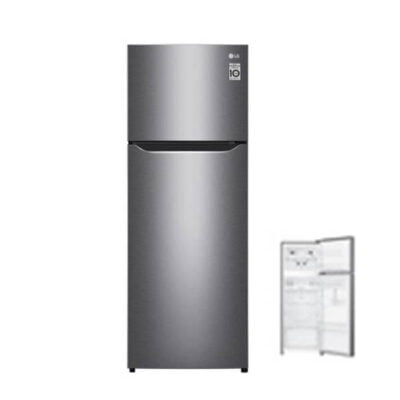 LG GN-B222SQBB Refrigerator, Top Mount Freezer, 210L – Silver