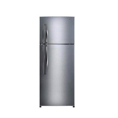 LG GL-C332RLBN Refrigerator, Top Mount Freezer, 256L – Silver