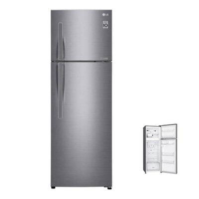 LG GL-C362RLBN Refrigerator, Top Mount Freezer, 310L – Silver