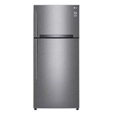 LG GL-H602HLHU Refrigerator, Top Mount Freezer, 410L – Silver