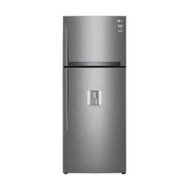 LG GL-F652HLHU Refrigerator, Top Mount Freezer, 438L – Silver