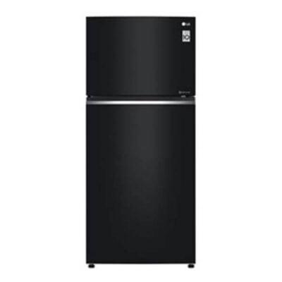 LG GN-C702SGGU Refrigerator, Top Mount Freezer, 506L - Silver