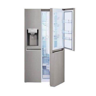 LG GCJ247SLUV Refrigerator, Side by Side, 668L – Silver