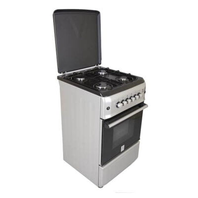 Mika Standing Cooker, 50cm X 55cm, 4GB, Gas Oven, Metalic Silver MST55PIAGSL/SD