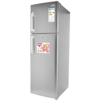 Ramtons fridge 344 LITRES DOUBLE DOOR NO FROST FRIDGE, SILVER- RF/293