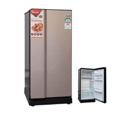 Ramtons fridge 170 LITRES SINGLE DOOR DIRECT COOL FRIDGE, CHAMPAGNE- RF/221