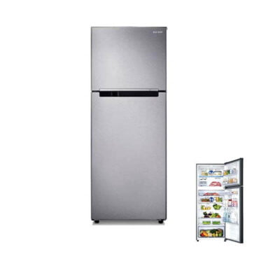 Samsung RT49K5052SL Double Door Fridge, 384L, Non Frost, LVS - Silver