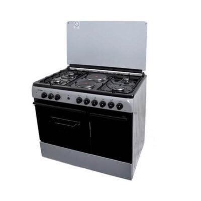 Von Hotpoint 8422SLV/VAC9S042CS 4 Gas + 2 Electric Cooker - Silver