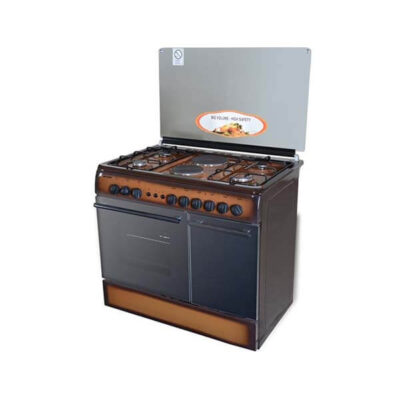 Von Hotpoint 8422NED/VAC9S042CD 4 Gas + 2 Electric Cooker - TDF Dark