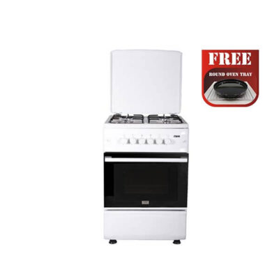 Mika MST55PIAGWH/SD Standing Cooker, 50cm X 55cm, 4GB, Gas Oven, White
