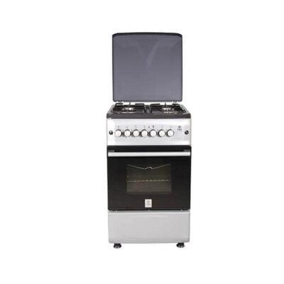 Mika MMika Standing Cooker MST55PI4GSL/HC ST55PI4GSL/HC Standing Cooker, 50cm X 55cm, 4GB, Electric Oven, Silver