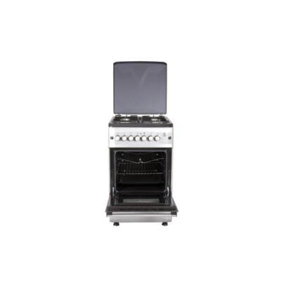 Mika MST55PI4GSL/HC Standing Cooker, 50cm X 55cm, 4GB, Electric Oven, Silver