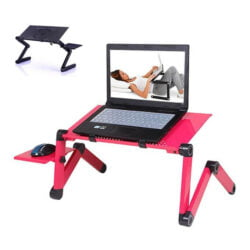 Laptop Stand With Adjustable Folding pink