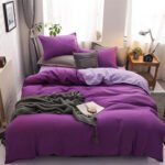 WGC 5 by 6 Quality Cotton Purple Duvet