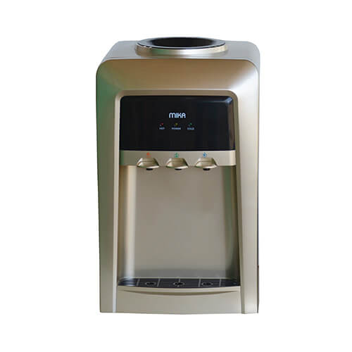 Mika MWD1502/GBL Water Dispenser, Table Top, Hot, Normal Cold, Electric cooling, Gold