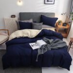 Wgc 5 by 6 Cotton Navy Blue Duvet