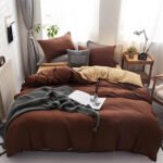 Wgc 6 by 6 Cotton Brown Duvet