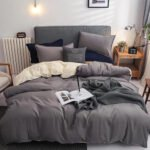 Wgc 6 by 6 Cotton Grey Duvet