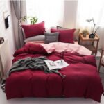 Wgc 5 by 6 Cotton Maroon Duvet