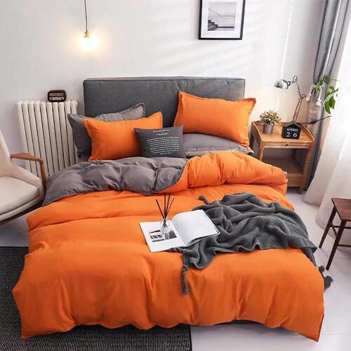 Wgc 6 by 6 Cotton Orange Duvet