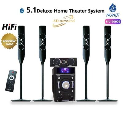 Nunix 5.1 Deluxe Home Theatre System-bass Sound Tall Boy