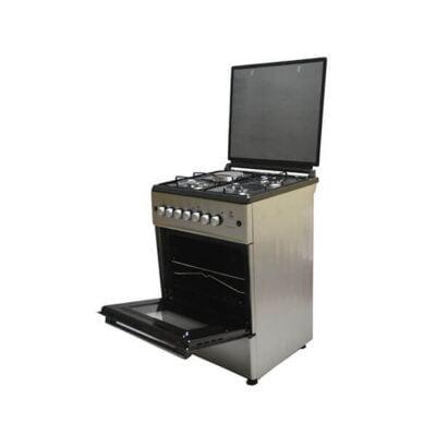 Mika Standing Cooker, 58cm X 58cm, 3 + 1, Electric Oven, Silver MST60PI31SL/EM