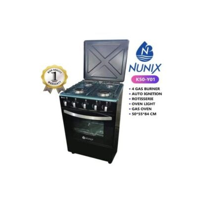 Nunix 4 gas 50 by 55 Cooker best price in Kenya Features