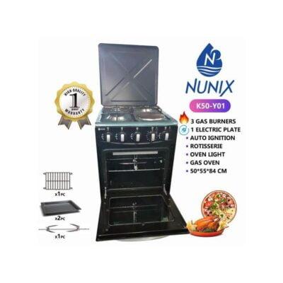 Nunix 3Gas 1Hot Plate 50 by 55cm Cooker best price in Kenya
